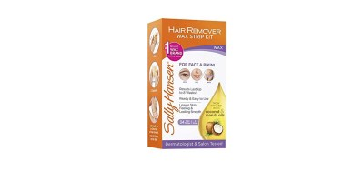 Sally Hansen Hair Remover Wax Strip Kit 34 Strips (17 Double-Sided Strips)