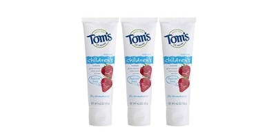 3 Count4.2 Ounce Tom's of Maine Natural Fluoride Free Children's Toothpaste – Silly Strawberry