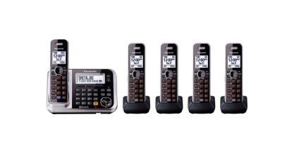 Panasonic  Link2Cell Bluetooth Cordless Phone with Enhanced Noise Reduction & Digital Answering Machine (5 Handsets)