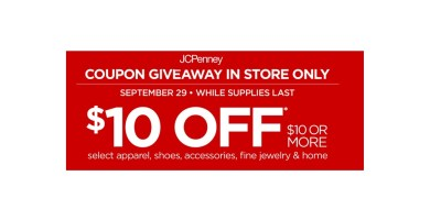 JCPenney Coupon giveaway