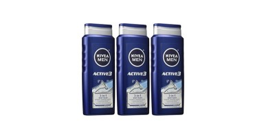 3 Pack Nivea Active3 Shower and Shave 3 in 1