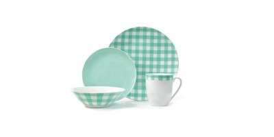 Plaid Collection Porcelain Dinnerware Set