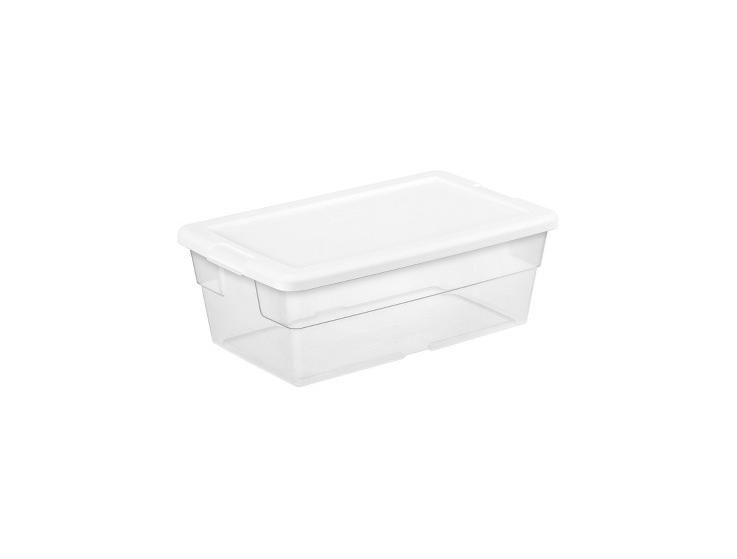 Sterilite 6 Qt Clear Storage Box White Lid for $0.99 at Target