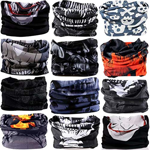 6PCS/8PCS/9PCS/12PCS Seamless headband camo bandanas headwear for men...