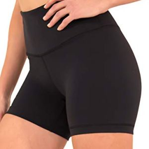 90 Degree By Reflex - Power Flex Yoga Shorts (S, Black High Waist)