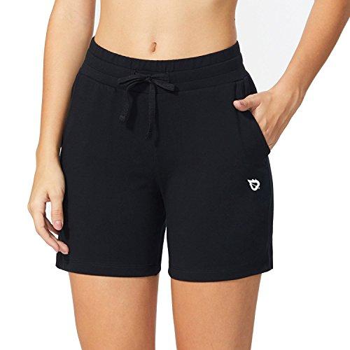 "BALEAF Women's 5"" Activewear Yoga Lounge Shorts with Pockets Black Si..."