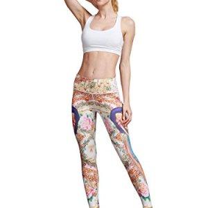 MUMUWU Women Yoga Pants High Waist Sport Workout Running Power Flex Y...