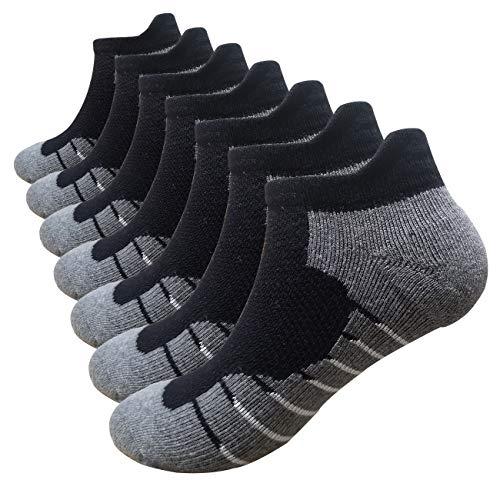 Men's Low Cut Running Sock Cotton 3/7 Pack Performance Comfort No Sho...
