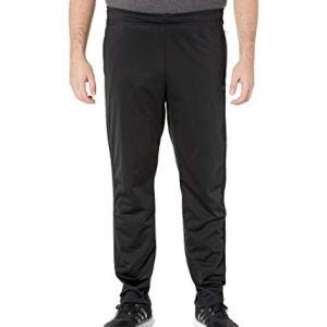 adidas Essentials Men's 3-Stripes Tapered Pants, Black/Black, Large/T...