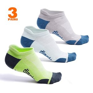 dimok Athletic Running Socks - No Show Wicking Blister Resistant Long...