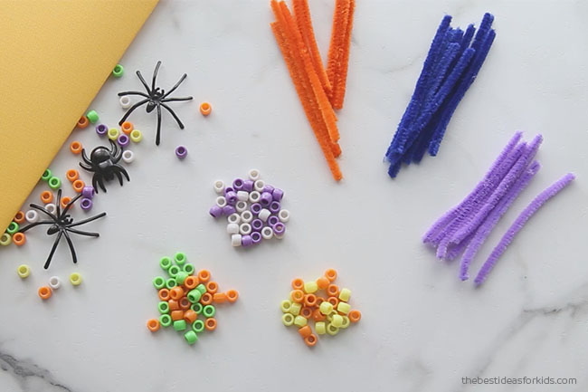 Pony Beads and Pipe Cleaner Spider Craft