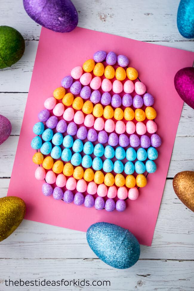 Mini Egg Art Easter Craft for Kids