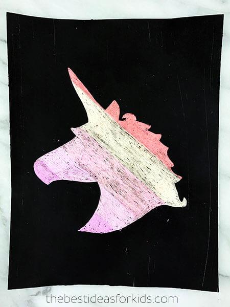 Unicorn Scratch Art Craft