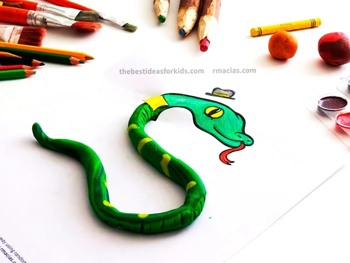 Snake Made with Playdough Craft