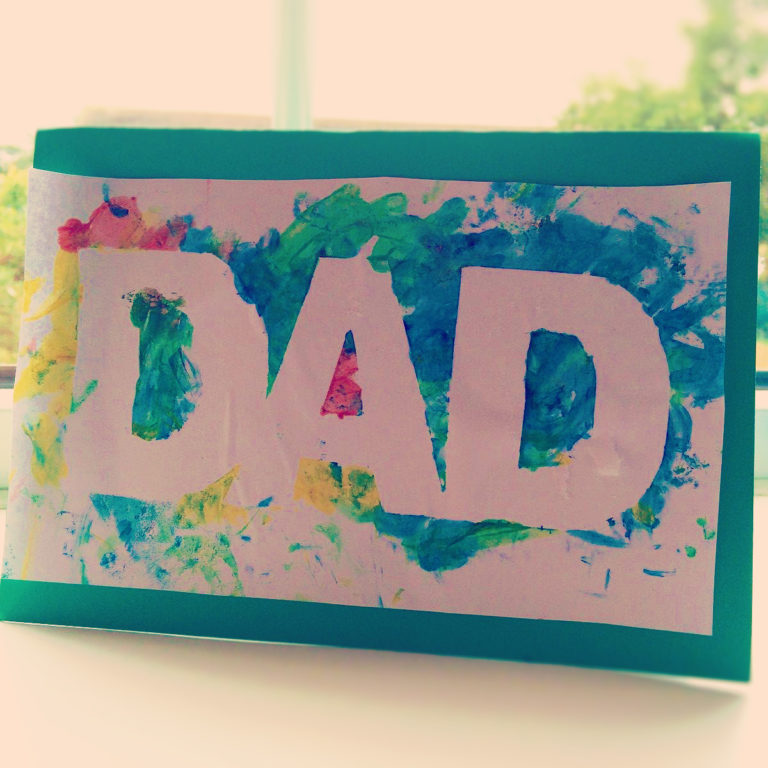 Finger Painted Card