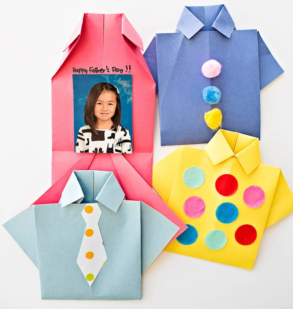 Origami Father's Day Shirt Card