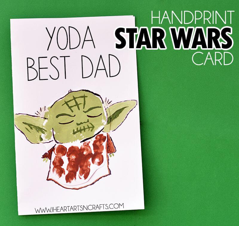 Yoda Best Dad Card