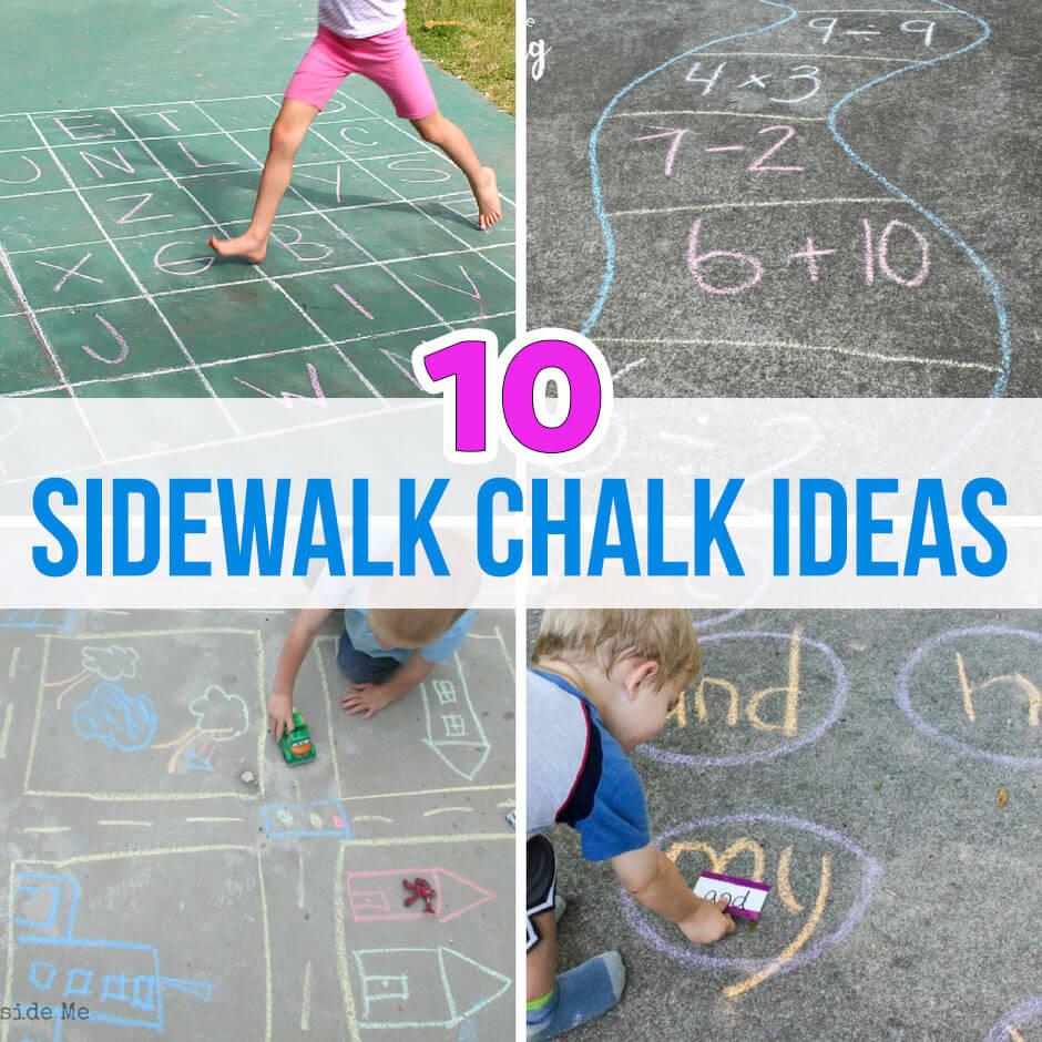 10 of the Best Sidewalk Chalk Ideas