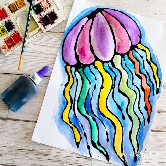 Jellyfish Black Glue Craft