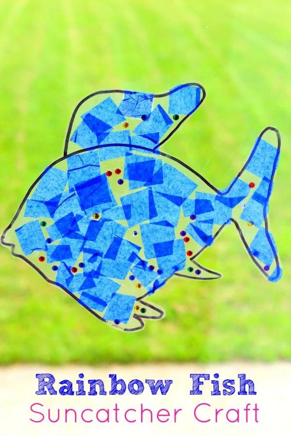 Rainbow Fish Suncatcher Craft