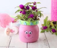 Trolls Mason Jar Flower Craft