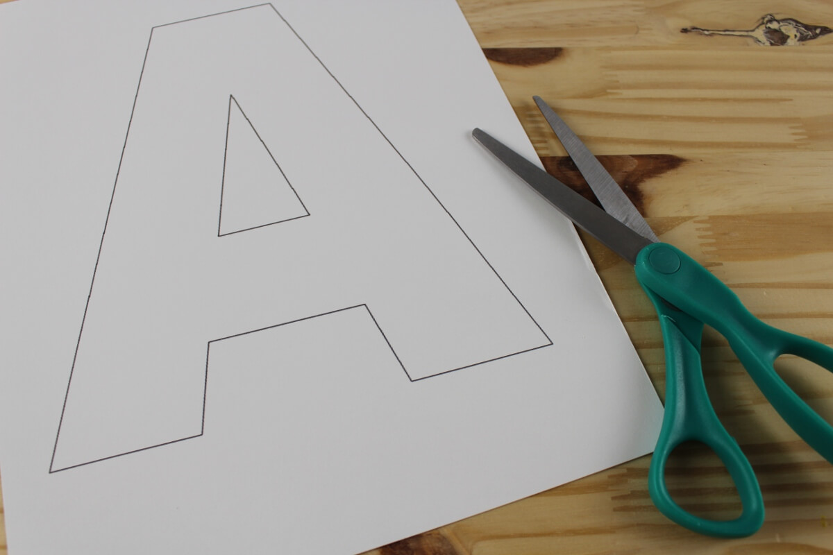 Print Letter A Template