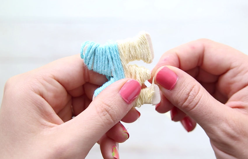 Wrapping Yarn Around Letters