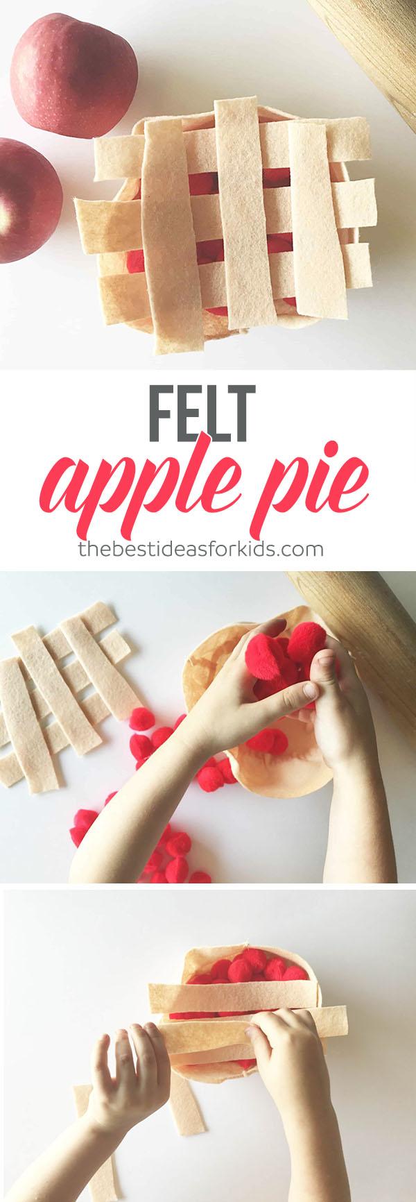Apple Pie Felt Play Food