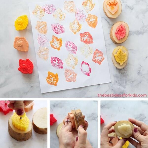 Easy Way to Make Potato Stamp
