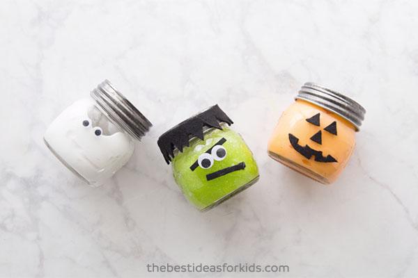 Cute Halloween Slime Jars