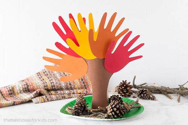 Fall Handprint Tree