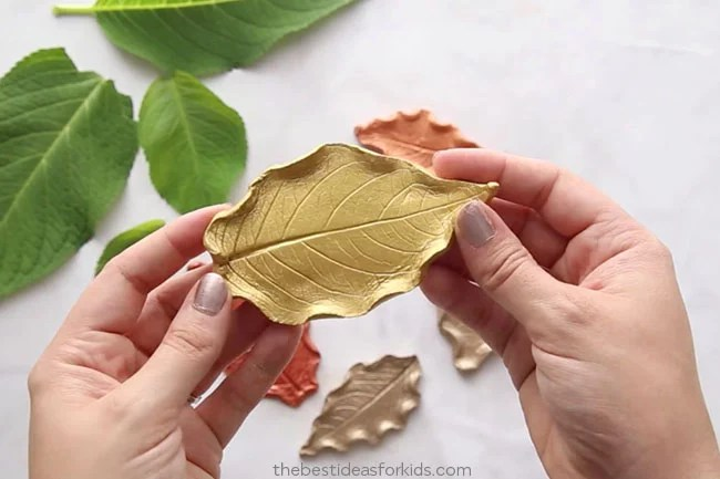 Painted Leaf Clay Dishes