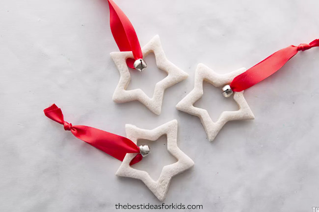 Star Salt Dough Ornaments