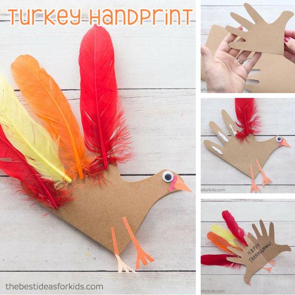 Turkey Handprint With Poem