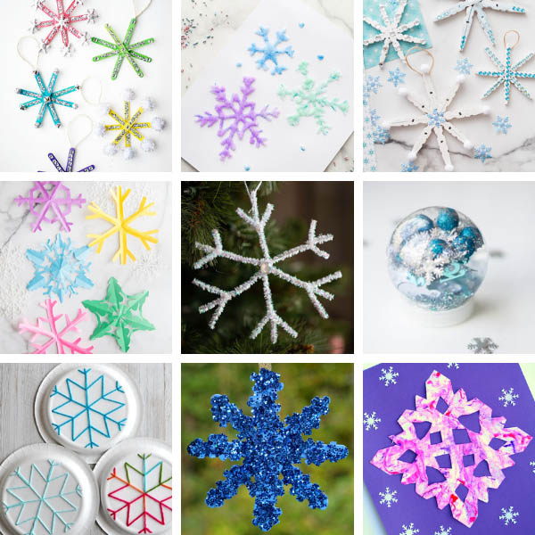 Christmas Snowflake Crafts for Kids