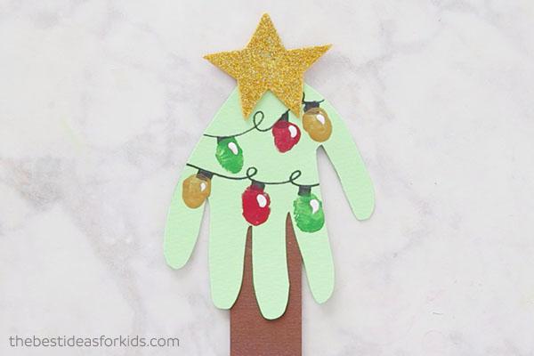Fingerprint Handprint Christmas Tree