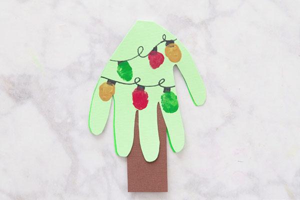 Handprint Fingerprint Christmas Tree