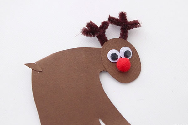 Add Nose and Eyes to Reindeer Ornament