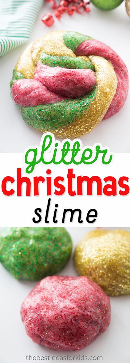 Glitter Glue Slime for Christmas