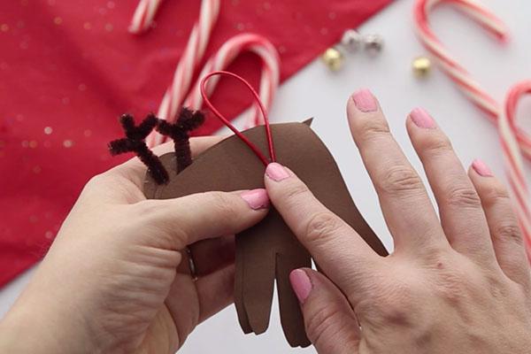 Ribbon for Hanging Reindeer Ornament