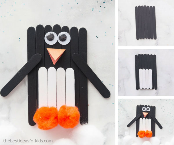 Craft Stick Penguin Craft for Kids