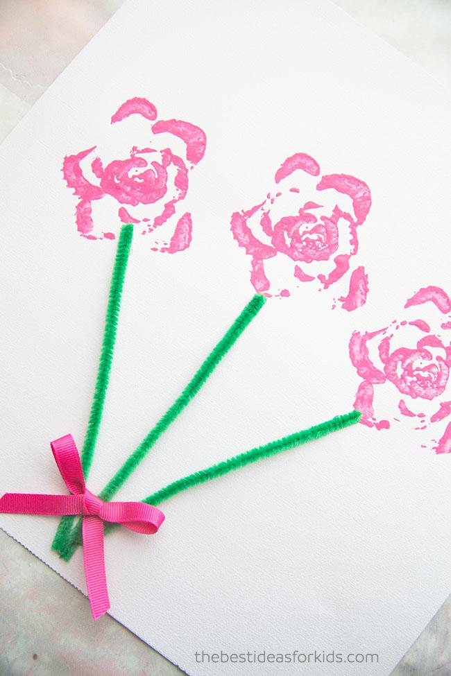 Celery Printing Flowers