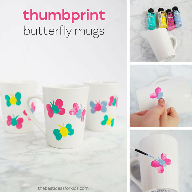 Hand Painted Mugs DIY Ideas