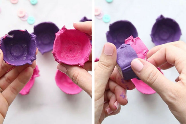Paint Egg Carton Flowers Craft