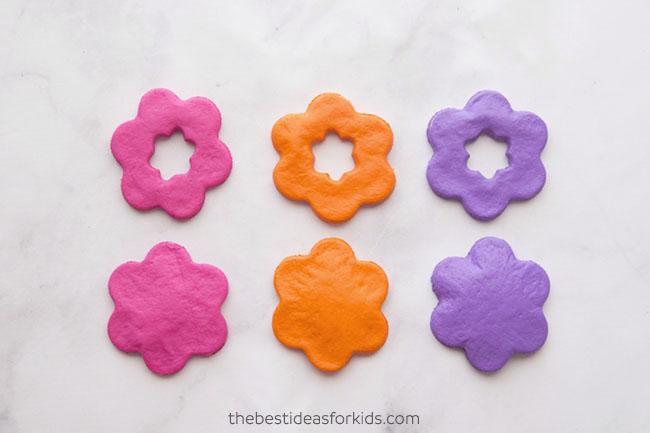 Paint Salt Dough Flowers
