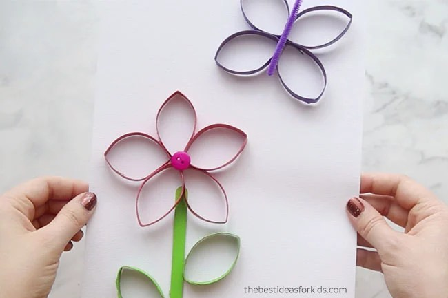Toilet Paper Roll Butterfly Craft