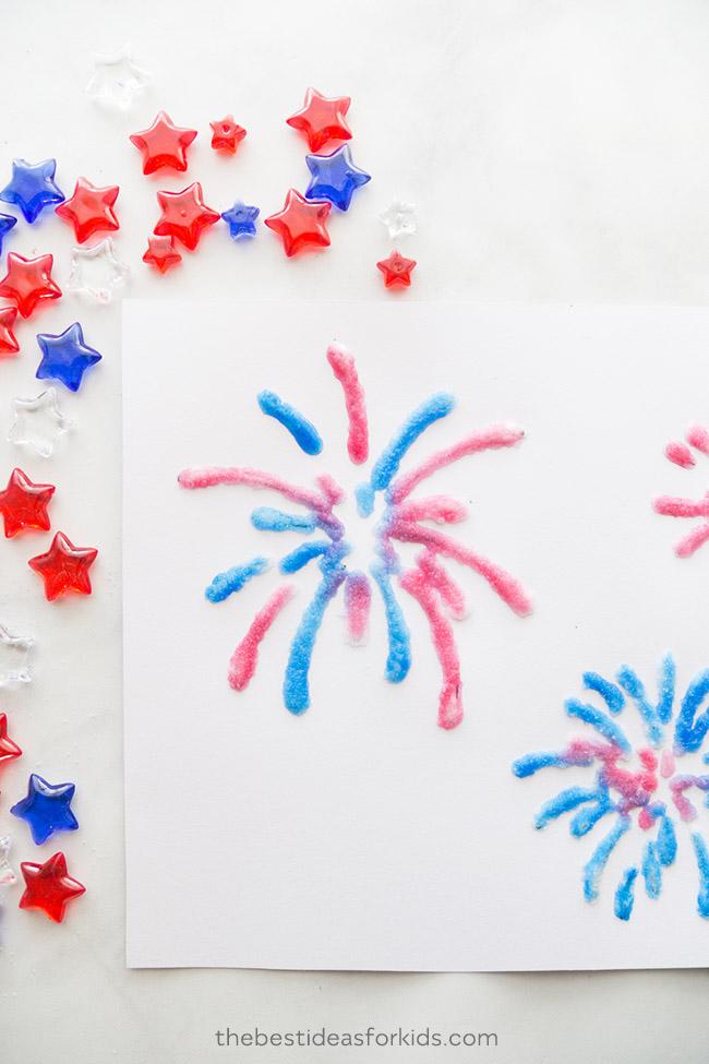 Fireworks Template Kids Craft