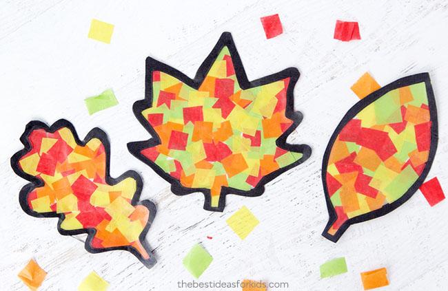 Leaf Suncatchers for Fall