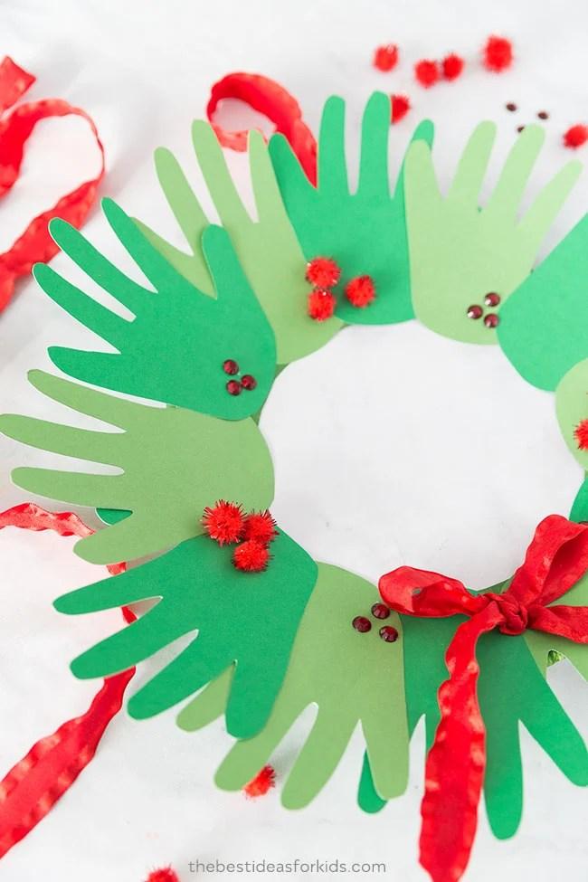 Christmas Handprint Wreath