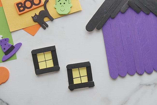 Make Haunted House Craft Windows